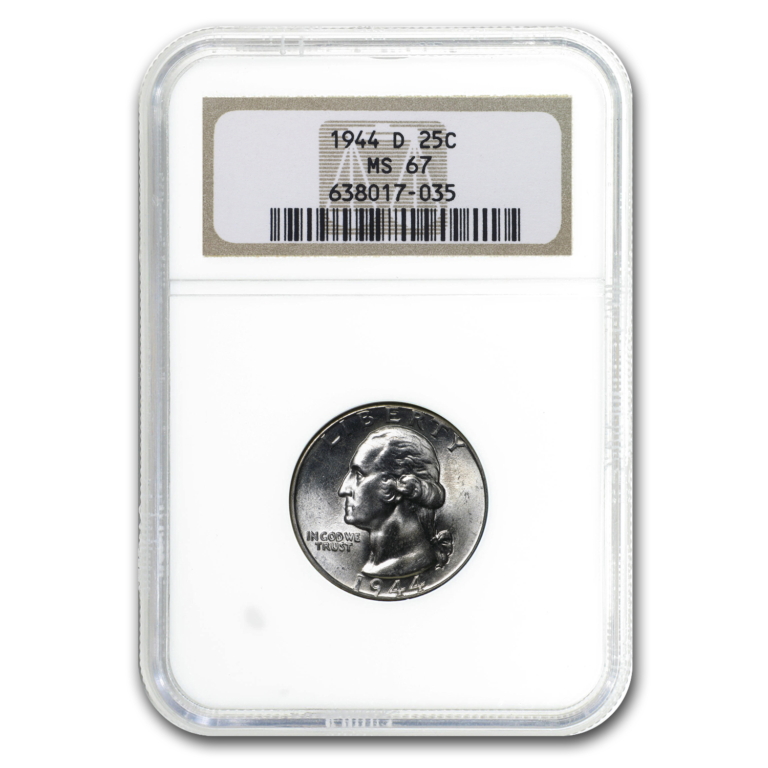 1944-D Washington Quarter MS-67 NGC